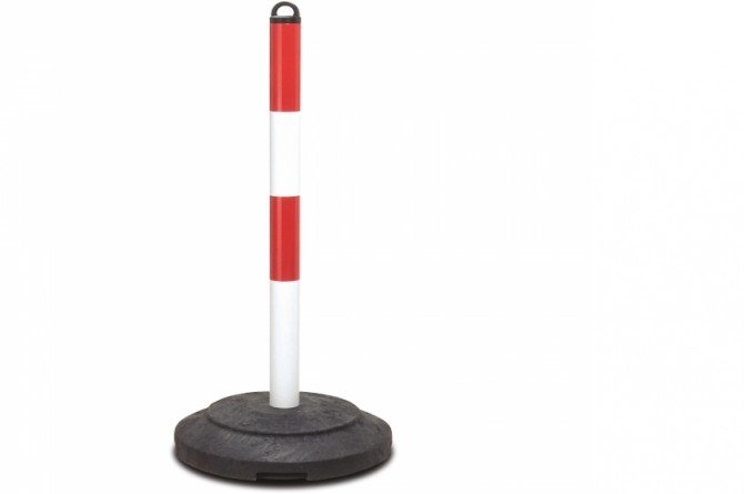 Zware kettingstaander 1000x60mm rood/wit #1   Afzetketting   Groven Store Safety
