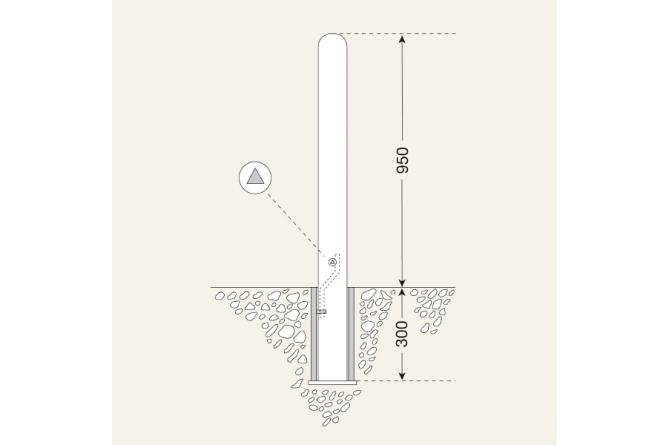 Stadspaal Wenen, 108mm Antiekbruin #1 | Om in te betonneren vast | Groven Store Safety