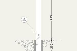 Stadspaal uitneembaar 76mm  Ø #2 | Edelstaal palen | Groven Store Safety