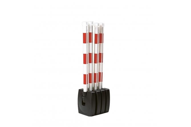 Guarda kettingstaander set rood/wit 4 stuks #1   Afzetketting   Groven Store Safety