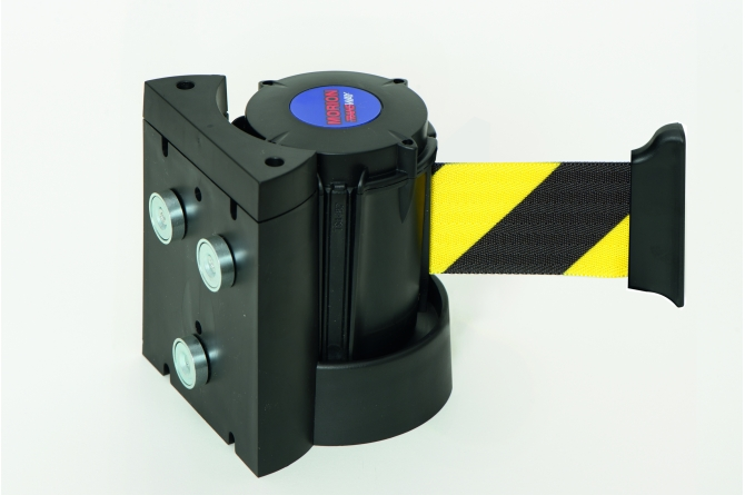 MORION wandriem geel/zwart 3000mm #1 | Afzetpaal met trekband | Groven Store Safety