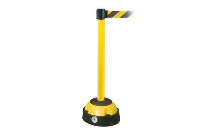Morion riem afzetpaal, geel/zwart. 985/60mm en lengte 3000mm #1   Afzetpalen   Groven Store Safety