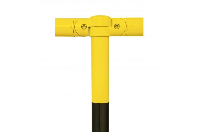 MORION Urban staanpaal afdekkap, zwart/geel #1   Veiligheidsrailing   Groven Store Safety