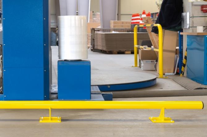 beveiligingsbalk h200xl 1500xd3mm #1   Wielgeleider   Groven Store Safety