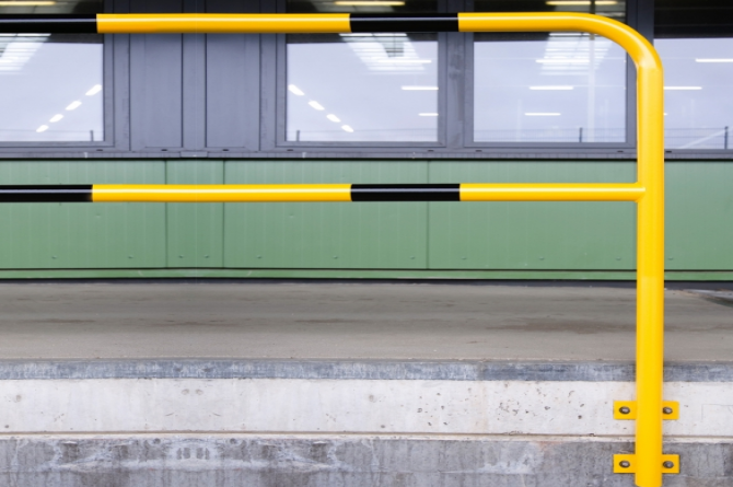 morion beveiligingsbeugel 1300x1000mm gele kunststof #1 | Beschermingsbeugel | Groven Store Safety