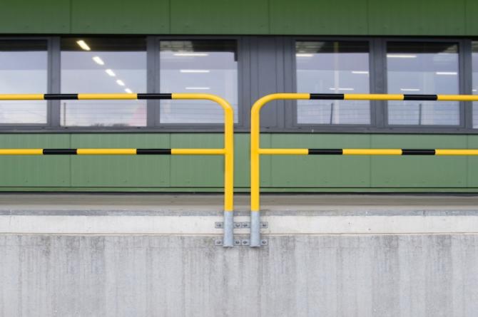 beschermingshek h1300xb1500mm staal thermisch verzinkt #1 | Beschermingsbeugel | Groven Store Safety