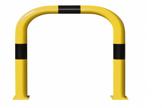 Beschermingsbeugel staal gecoat, hoogte 150mm met plint #1 | Beschermingsbeugel | Groven Store Safety