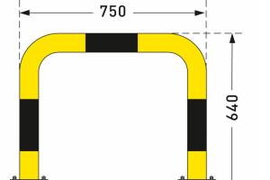 aanrijdbeveiliging beugel staal gecoat kunststof swing geel zwart #2 | Beschermingsbeugel | Groven Store Safety