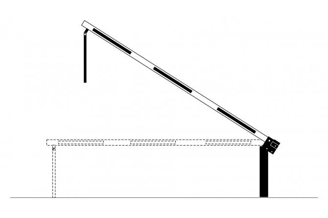 Slagboom 3820mm vaste oplegpaal gasdrukveer #1 | Slagbomen | Groven Store Safety