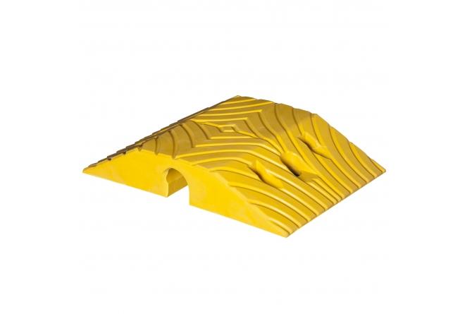Topstop 10, verkeersdrempel, geel, standaardelement. 405x250x70mm #1   Verkeersdrempels   Groven Store Safety