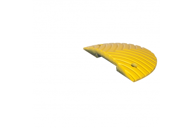 Topstop verkeersdrempel, eindelement met pen. 400x200x50mm #1 | Verkeersdrempels | Groven Store Safety