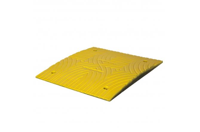 Topstop verkeersdrempel standaardelement, geel. 500x500x300mm #1   Verkeersdrempels   Groven Store Safety
