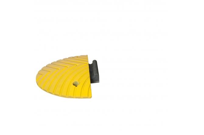 Topstop verkeersdrempel, eindelement met gleuf.  400x200x50mm #1   Verkeersdrempels   Groven Store Safety