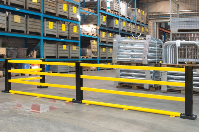 beveiligingsbalk staal kunststof l1750mm #1 | Wielgeleider | Groven Store Safety