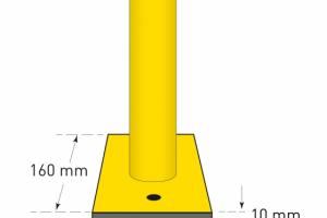 aanrijdbeveiliging beugel staal gecoat kunststof h1000xb1000mm #2   Beschermingsbeugel   Groven Store Safety