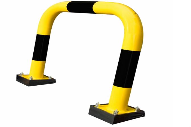 aanrijdbeveiliging beugel staal gecoat kunststof swing geel zwart #1 | Beschermingsbeugel | Groven Store Safety