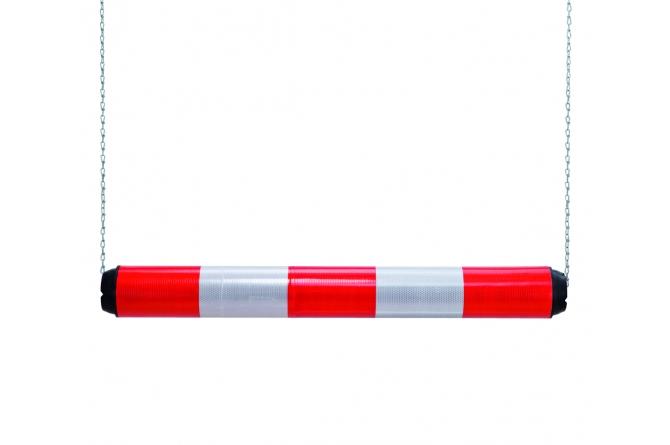 Morion hoogtebegrenzer, kunststof, 950x100mm, rood/wit.  #1 | Hoogtebegrenzers | Groven Store Safety