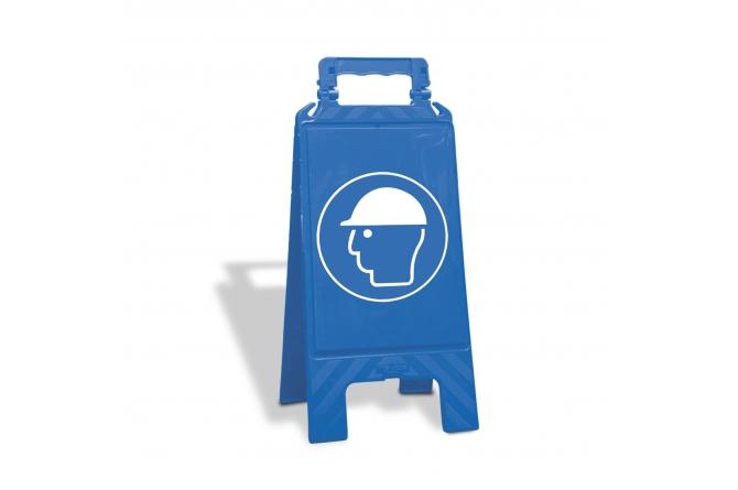 Waarschuwingsbord kunststof blauw, veiligheidshelm verplicht #1   Waarschuwingsborden   Groven Store Safety