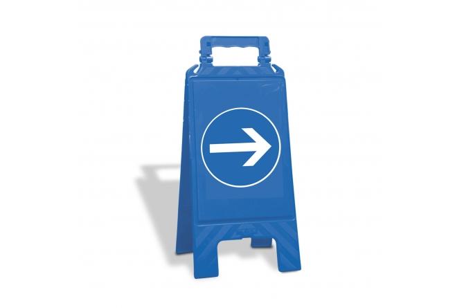 Waarschuwingsbord kunststof blauw verplicht te volgen richting #1 | Waarschuwingsborden | Groven Store Safety