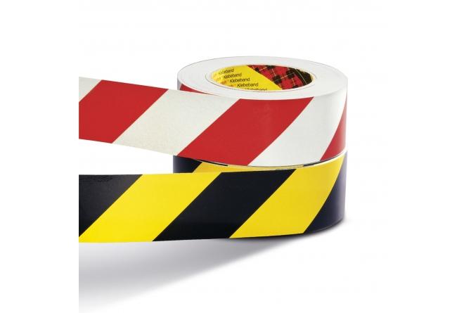 Waarschuwingsmarkering rood/wit 60mmx60m #1 | Markeringstape | Groven Store Safety