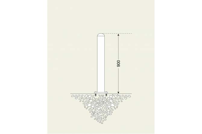 Edelstaalpaal 60mm Ø, te pluggen #1 | Edelstaal palen | Groven Store Safety