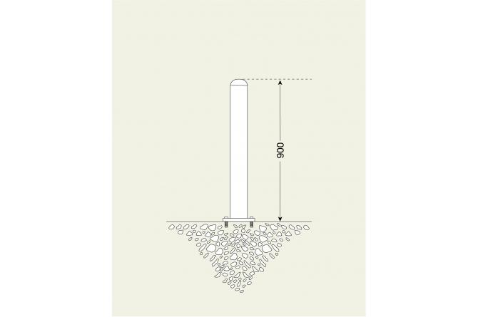 Edelstaalpaal 76mm Ø, te pluggen #1 | Edelstaal palen | Groven Store Safety