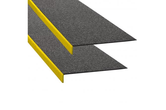 PROLine anti-slip hoek kunststof zwart/geel 230x1000mm #1   Markeringstape   Groven Store Safety