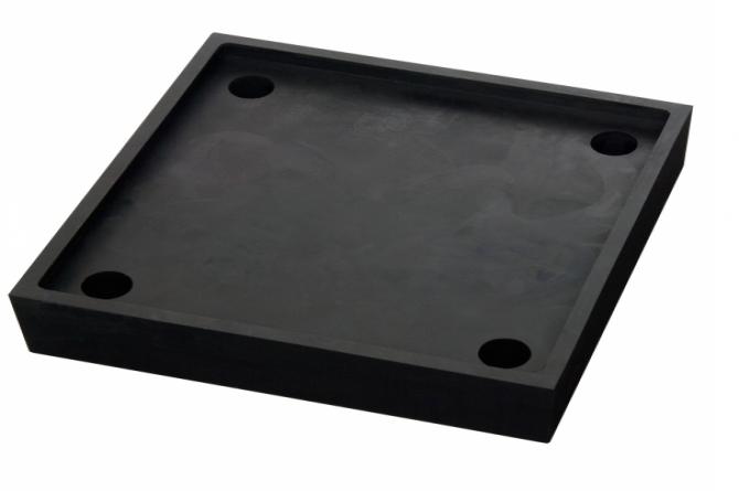 zwart veerelement 50x206x206mm #1 | Veiligheidsrailing | Groven Store Safety
