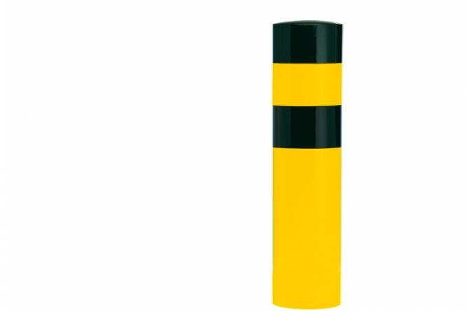 Black Bull rambeveiligingspaal XL betonneren geel zwart #1 | Rampaal | Groven Store Safety