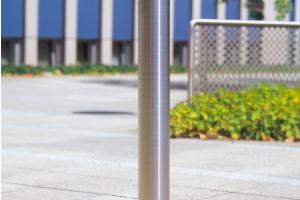 Edelstaalpaal 76mm Ø, te pluggen #2 | Edelstaal palen | Groven Store Safety