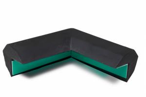 Randbescherming trapezium buitenhoek tweebenig #2 | Stootbanden | Groven Store Safety
