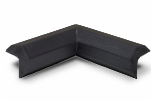 Randbescherming zwart tweebenig binnenhoek #2 | Stootbanden | Groven Store Safety