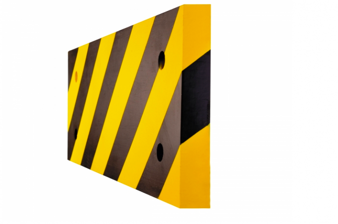 MORION zuilbescherming 500x200x20mm ronde zuilen #1   Stootbanden   Groven Store Safety