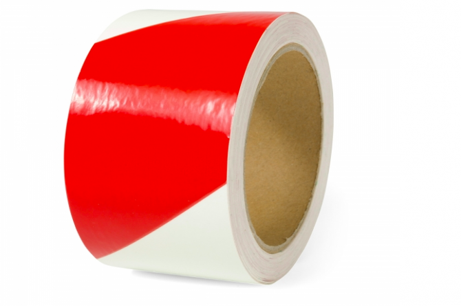 Waarschuwingsmarkering 50mmx16m rood/luxwit 2 rollen #1 | Markeringstape | Groven Store Safety