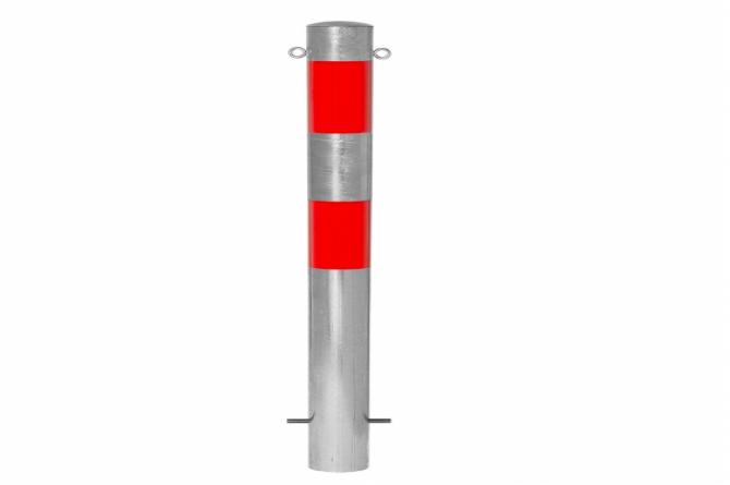 Morion afzetpaal 90mm, betonneren, reflecterend.  #1 | Om in te betonneren vast | Groven Store Safety