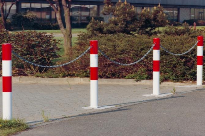 Parat B afzetpaal, 60mm en 1000mm hoog. #1 | Om op te pluggen | Groven Store Safety