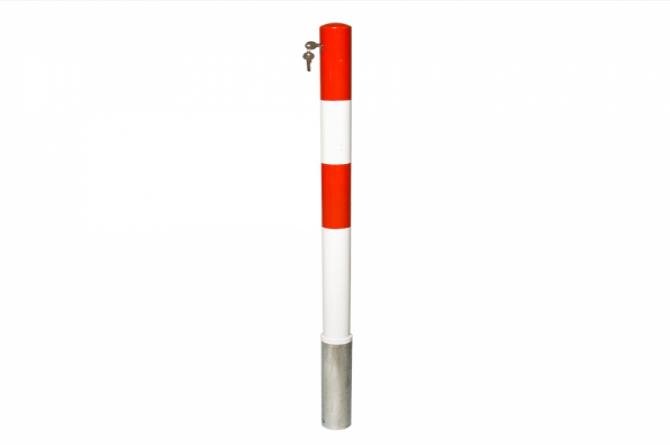 Parat A uitneembare afzetpaal 60mmØ, cilinderslot, 3 sleutels gelijksluitend #1   Uitneembaar   Groven Store Safety