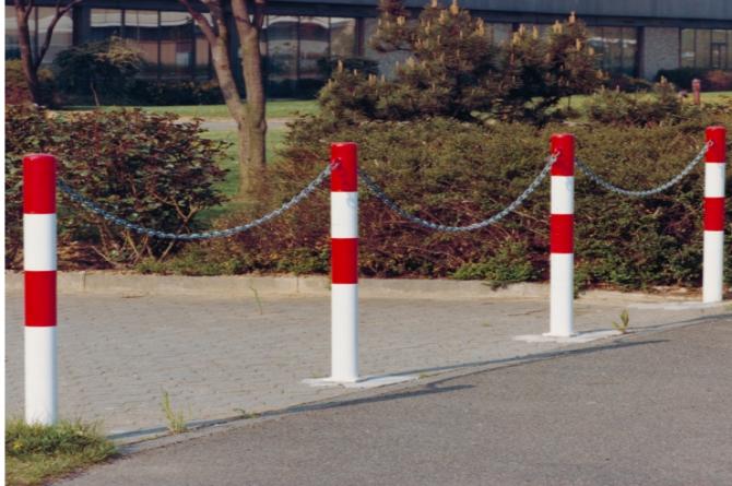 Parat B afzetpaal, 60mm en 1000mm hoog. #1 | Om in te betonneren vast | Groven Store Safety