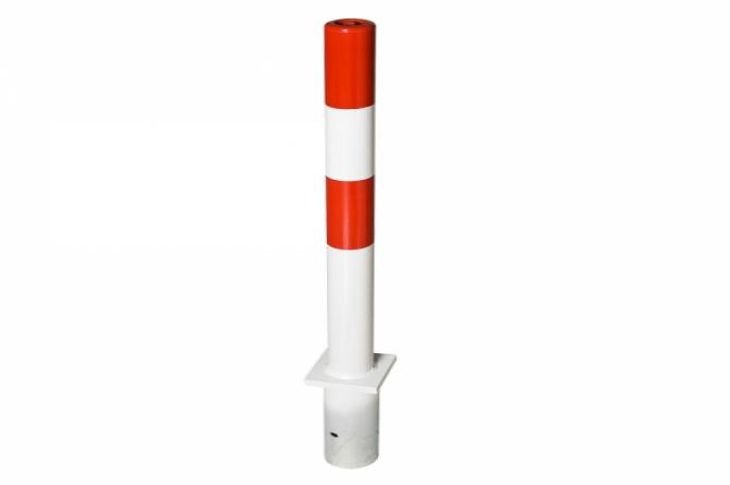 PARAT B-afzetpaal 76mm betonneren rood/wit #1 | Om in te betonneren vast | Groven Store Safety
