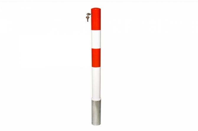 Parat A uitneembare afzetpaal 76mmØ cilinderslot, 3 sleutels, 1oog #1 | Uitneembaar | Groven Store Safety