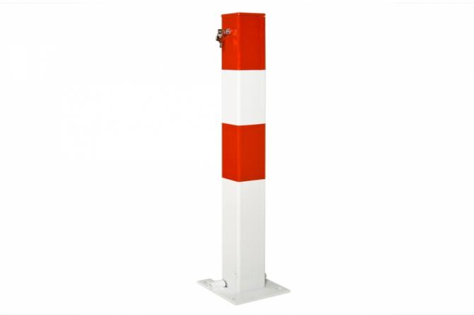 Sesam A kip paal, 70x70mm betonneren, rood/wit #1   Om in te betonneren vast   Groven Store Safety