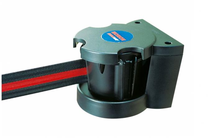 MORION wandriem magnetisch zwart rood 3000mm #1   Afzetpaal met trekband   Groven Store Safety