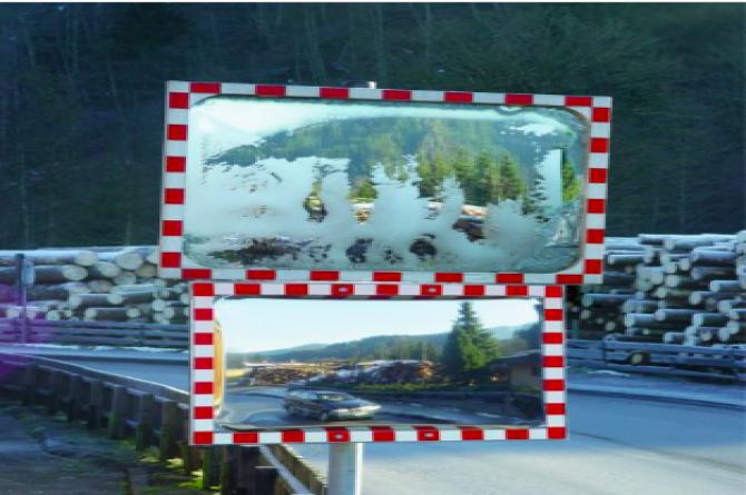 DURABEL ice free industriespiegel 600x800mm #1 | Verkeersspiegel buiten | Groven Store Safety