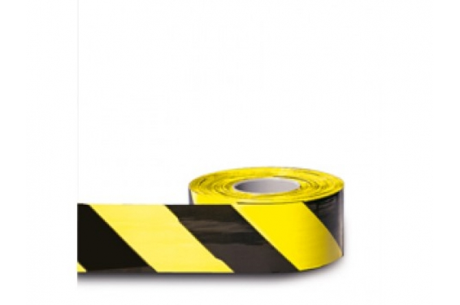 MORION afbakeningslint geel zwart 500m #1 | Afzetlint | Groven Store Safety