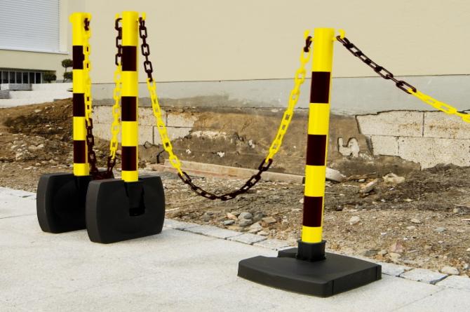 Guarda kettingstaander set 4 staanders #1   Afzetketting   Groven Store Safety