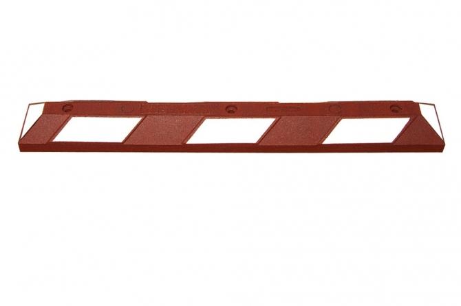 Wielstop park it, 1200x150x100mm, roodbruin/wit #1 | Wielstopper | Groven Store Safety