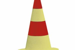 EUROPA verkeerskegel geel H510mm #2 | Pion | Groven Store Safety